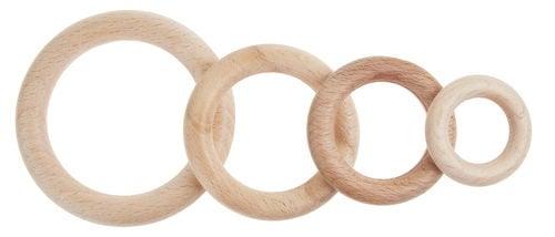 Houten ring 3,5cm 50 stuks