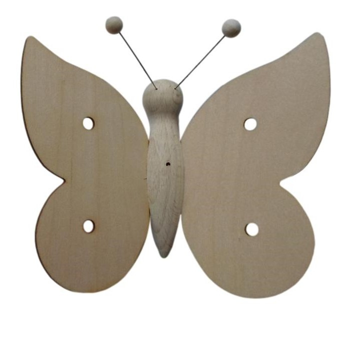 Houten vlinder Groot
