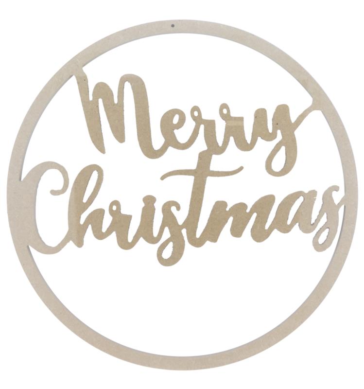 MDF ring 'Merry Christmas'