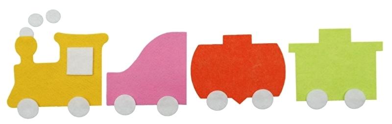 Complete trein in kleur naar keuze