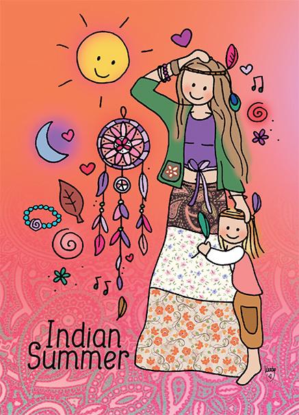 Kaart 'Indian summer'