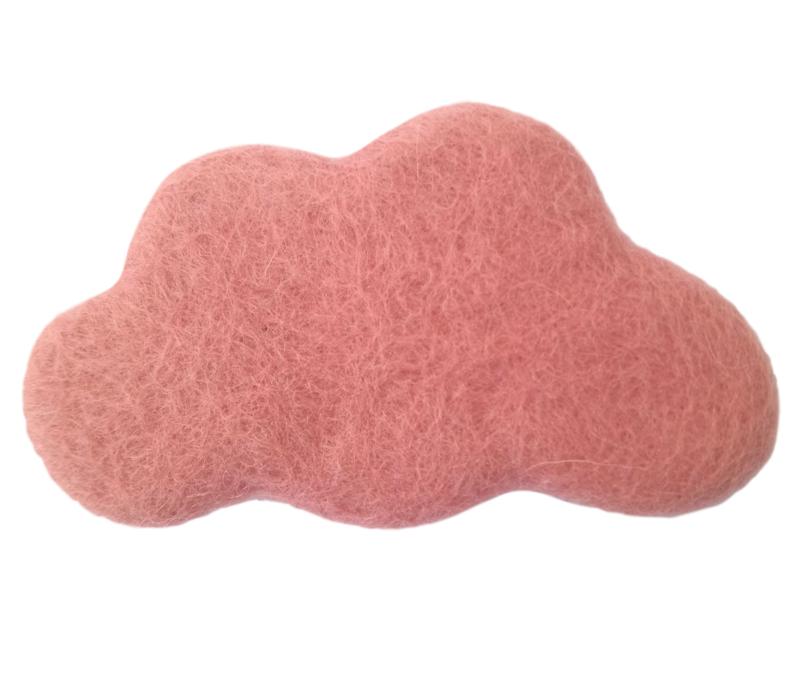 Handgevilten wolk Roze