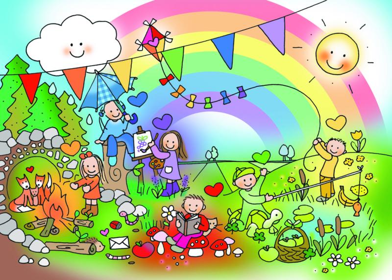 Kaart 'Regenboogkindjes'