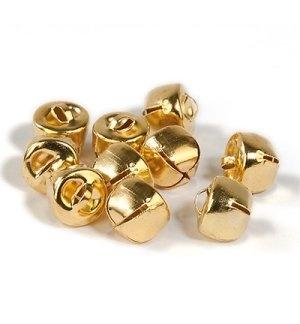 Belletjes goud 12mm 10 stuks