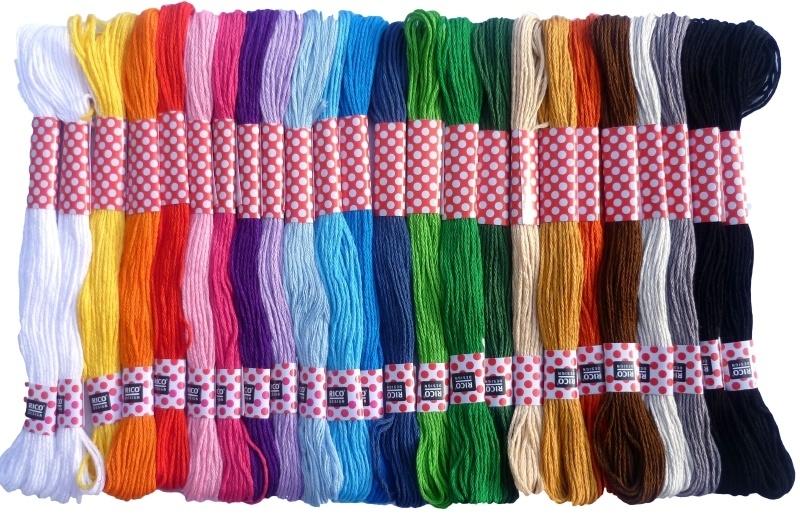 Budget borduurgaren 24 felle kleuren