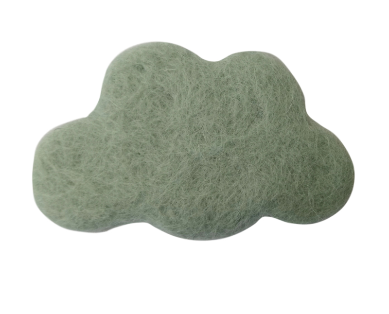 Handgevilten wolk Softmint