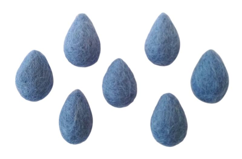 Druppeltjes klein lichtblauw