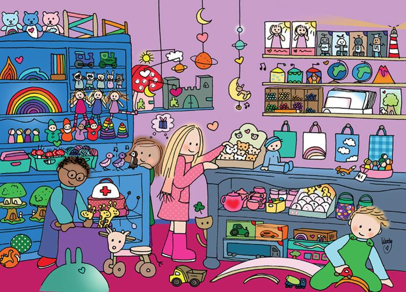 Kaart 'Speelgoedwinkel'