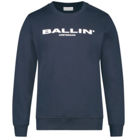 Ballin Amsterdam Kids Original logo Sweater Navy