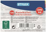 Flash kaarten, systeemkaarten, indexkaarten (A8) 75 x 52 mm