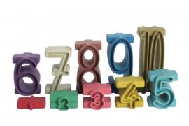Getallen stapelen - Rekentorens - Stapelgetallen - inzicht getallen - Montessori kleuren