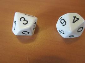 Dobbelstenen 0- 9 tafels oefenen  (oranje of wit)