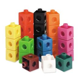 Klik Blokjes (Snapcubes) 100 stuks 10 kleuren