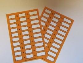 Rekenkaartjes x en : (vermenigvuldigen en delen) 5 stuks