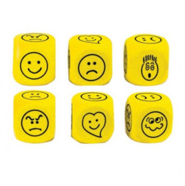 Expressions (Emotie) dobbelstenen 40mm foam 2 stuks
