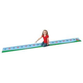 0 - 30 vloermat 7 m x 0,30 cm ( nummer mat ) (number line) (0-30)