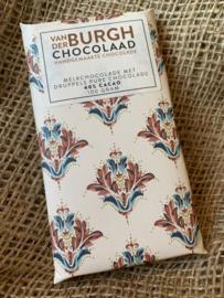 Romige fairtrade melkchocolade met druppels pure chocolade 100 gr  (40% cacao)