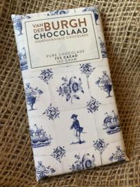 Pure chocolade Delfts blauw 100 gr fairtrade (72% cacao)