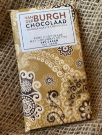 Pure chocolade met grofgemalen Honduras koffie 100 gr fairtrade (54% cacao)