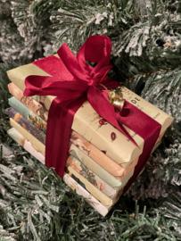 Fairtrade kerst sixpack (3 repen melkchocolade repen en 3 repen reep pure chocolade)