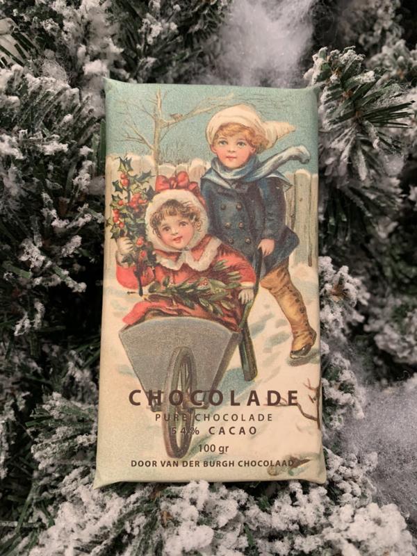 Pure chocolade 100 gr fairtrade (54% cacao)