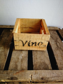 Houten kratje Vino