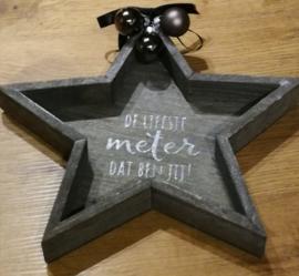 Kerst ster meter / peter / opa / oma