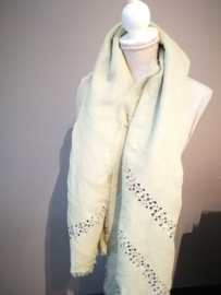Mint groene sjaal met pailletten