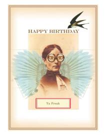 Happy birthday kaart steampunk