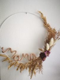 Moederdag krans subtiel in paars