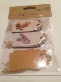 Gift tags vintage owl