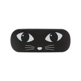 Zwarte kat zonnebril doos