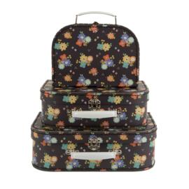 Vintage floral valiesjes