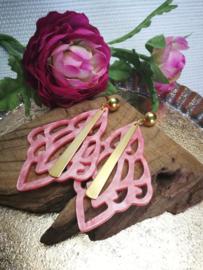 Pink coral met goud