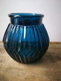 Petrol blauwe vaas