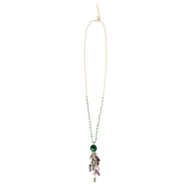 Soft green beads