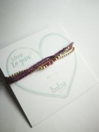 Fuchsia paarse armband biba