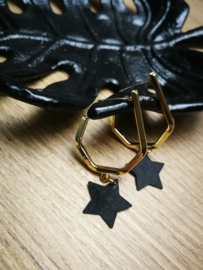 Gold black star
