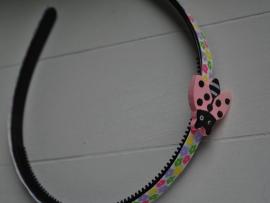 Roze lieveheersbeestje diadeem