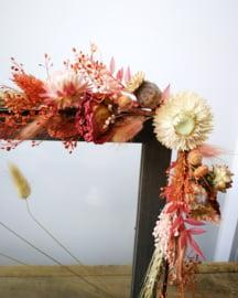 Foto kader voorzien van droogbloemen
