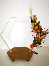 Hexagon droogbloemen staander