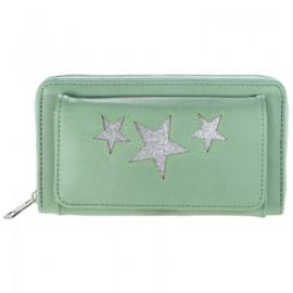 Mint groene geldbeugel ster
