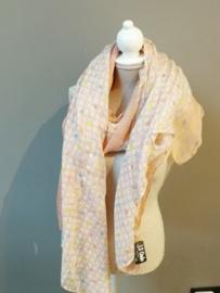 Roze pastel sjaal