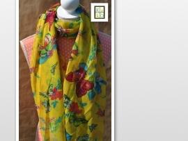 Gele vlinder sjaal