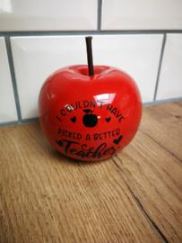 Rode appel juf geschenk