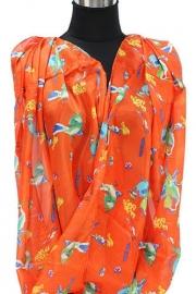 Oranje vogel sjaal