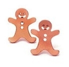 Rosé gold gingerbread man