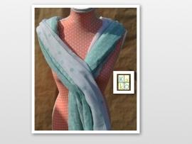 Blauwe pastel met stippen sjaal