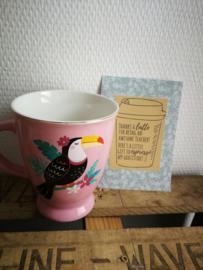 Koffie tas toekan juf bedankje