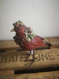 Rode kerstvogel